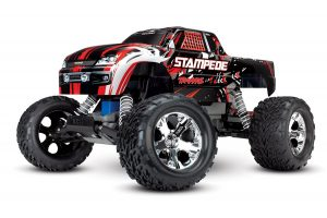 traxxas stampede rtr red front 1/4 view