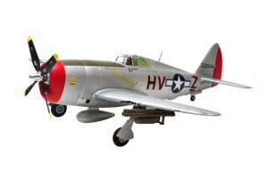 Assembled and finished Arrows Hobby P-47 Thunderbolt plug and play radio controlled plane