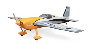 E-flite Extra 300 3D Bind and Fly radio controlled plane front view