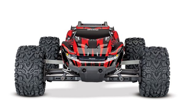 Traxxas Rustler 4x4 Red radio controlled truck front view