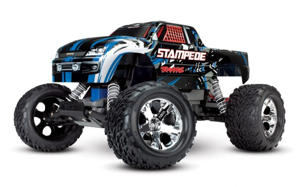 Traxxas Stampede 2wd radio controlled truck in blue