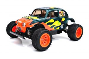 Assembled and finished Tamiya Blitzer Beetle radio controlled car kit