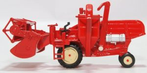 Red Combine Harvester side view