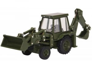 Back hoe loader army green