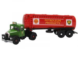 scammel tanker green cab and red tanker