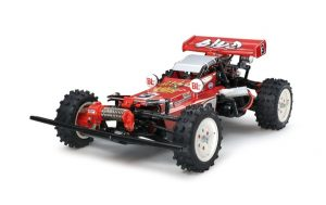 Assembled and finished Tamiya hotshot radio controlled car kit