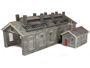 Double Track Engine Shed Grey stone