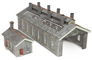 double track stone engine shed