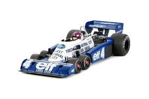 blue white racing car