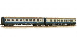 farish works test train blue & grey