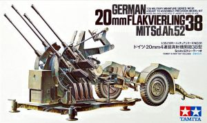 tamiya 1/35 20mm anti aircraft gun kit