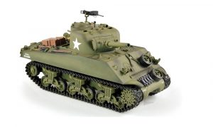 heng long 1/16 sherman rc tank front view