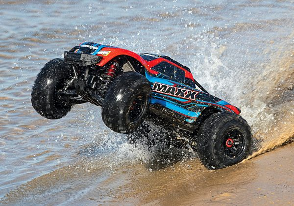 traxxas maxx 4s vxl brushless monster truck action shot 2