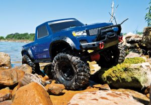 traxxas TRX-4 Sport RTR Blue action shot 1