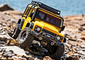 traxxas TRX-4 Defender Yellow action shot