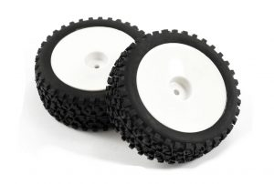 fastrax 1/10 mounted cuboid wheels and tyres front