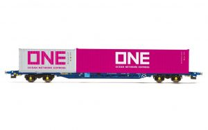 00 gauge container wagon