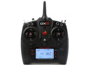 Spektrum DX8 G2 System with AR8010T Receiver Mode 2 front view