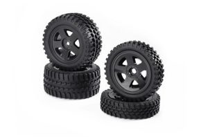 carson all terrain 2wd buggy tyre/wheel set c900027
