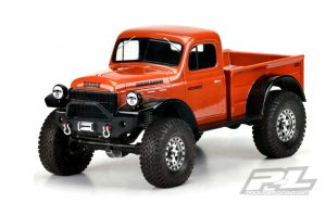 Pro-Line 1946 Dodge Power Wagon Clear Body PL3499-00 for 313mm (12.3in) Wheelbase Scale Crawlers