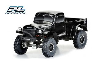 Pro-Line 1946 Dodge Power Wagon Tough-Color (Black) Body PL3499-18 for 12.3in (313mm) Wheelbase Scale Crawlers