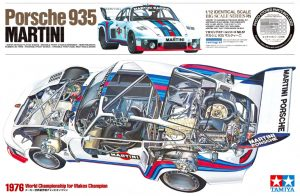 Tamiya Porsche 935 Martini 1:12 Plastic Model Car Kit 12057 box art