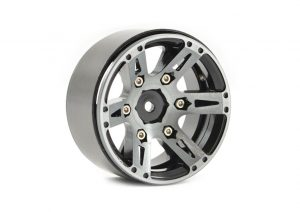 Fastrax 1.9in Heavy Weight Split 6-Spoke Aluminium Beadlock Wheels (4) - Black FAST0146BK