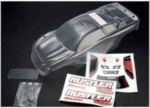 Traxxas Rustler and Rustler VXL Clear Body with Decals - TRX3714