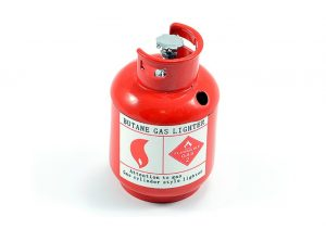 Fastrax 1/10th Scale Painted Alloy Gas Bottle - Red - FAST2349R