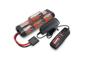 Traxxas Completer Pack with Mains 2A AC NiMH Charger & 1x NiMH 8.4V 3000mAh Hump iD Battery - TRX2984T