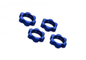 Traxxas 17mm Splined Wheels Nuts - Blue Anodized Qty 4 for X-Maxx and E-Revo 2 - TRX7758