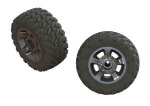 Ragnarok MT Truck Tyres ST Glued - Black Chrome Qty 2 - ARA550053