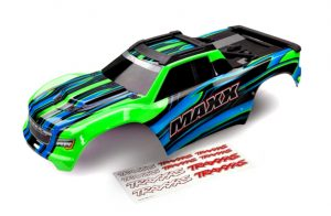 Traxxas Maxx Bodyshell Painted Green with Decal Sheet - TRX8911G