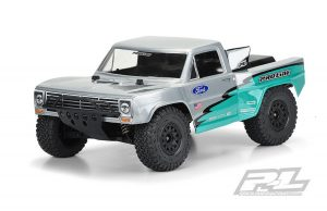 Pro-Line Pre-Cut 1967 Ford F-100 Race Truck Clear Body for Slash 2wd Slash 4x4 (with extended body mounts) - PL3551-17