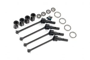 Traxxas Maxx Steel Constant Velocity Front or Rear Driveshafts with Bearings Qty 4 - TRX8950X