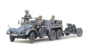 Tamiya 1/35 Krupp Protze Towing Truck with 37mm Pak - 35259