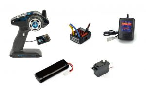 R/C Starter Set - 3 Channel For Car or Boat - Inc Battery & Charger with ESC