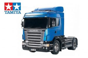 assembled and finished Tamiya Scania 4x2 truck kit