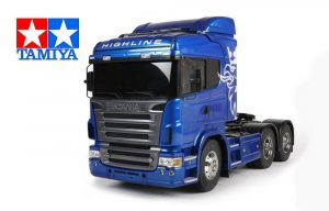 assembled and finished Tamiya Scania truck 6x4 kit