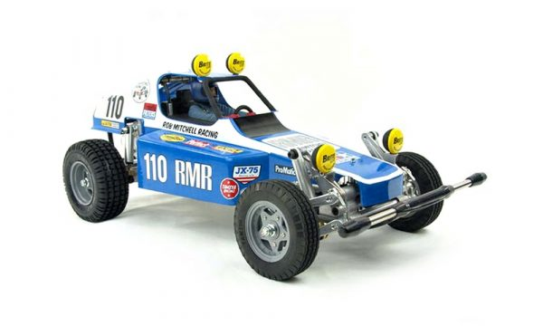 Assembled and finished Tamiya Racing Buggy radio controlled buggy kit