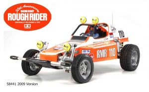 Assembled and finished Tamiya Racing Buggy radio controlled buggy kit - Red