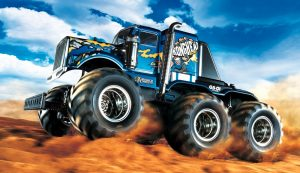 Box art for Tamiya Konghead radio controlled truck kit