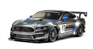 Assembled and finished Tamiya Mustang TT-02 radio controlled car kit