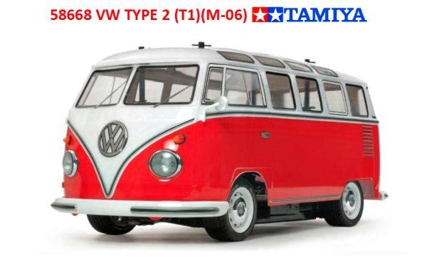 Assembled and finished Tamiya VW type 2 camper van radio controlled camper van kit