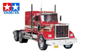 Assembled and finished Tamiya King Hauler radio controlled truck kit