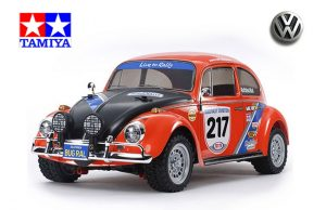 assembled and finished Tamiya Volkswagen Beetle Rally kit