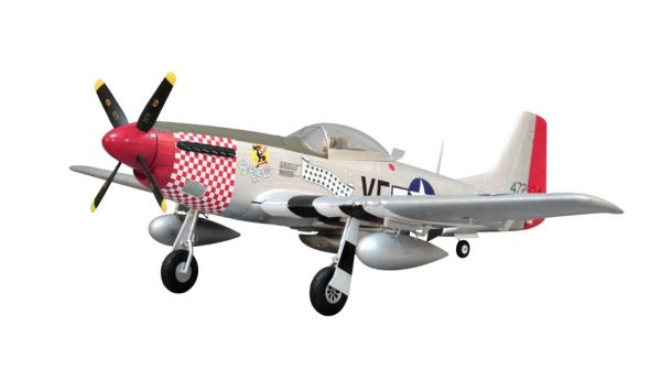 Assembled and finished Arrows Hobby P-51 Mustang plug and play radio controlled plane