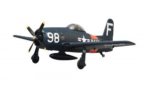Assembled and finished Arrows Hobby F8F Bearcat plug and play radio controlled plane