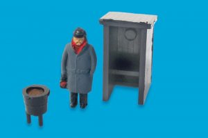 forman with hut and brazier