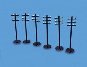 6 telegraph poles